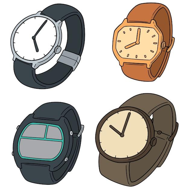 Conjunto de relógio Vetor Premium