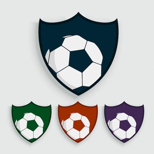 Conjunto de rótulos de futebol ou futebol Vetor grátis