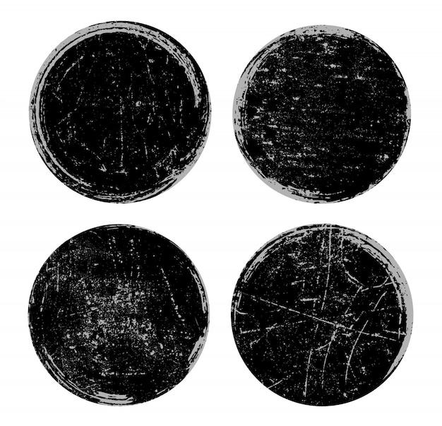 Conjunto de selos antigos Vetor Premium