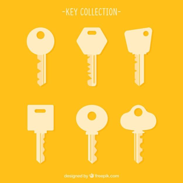 Conjunto de silhuetas de chaves Vetor grátis