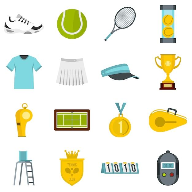 Conjunto de tênis ícones lisos Vetor Premium