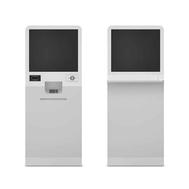 Conjunto de terminal de informações Vetor grátis