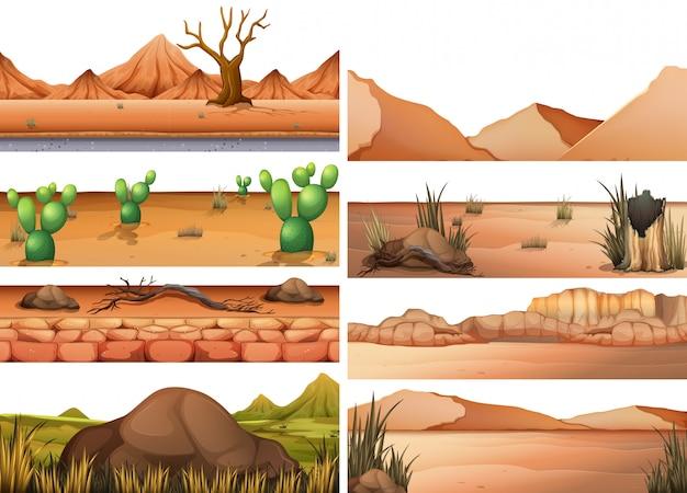 Conjunto de terra seca Vetor grátis