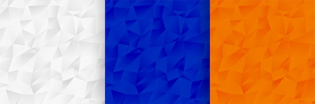 Conjunto de textura abstrata baixa poli padrão Vetor grátis