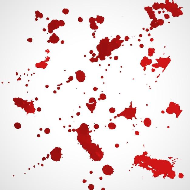 Conjunto de textura grunge splatter de tinta vermelha Vetor grátis