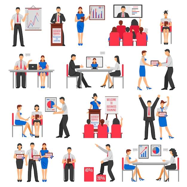Conjunto de treinamento de negócios Vetor grátis