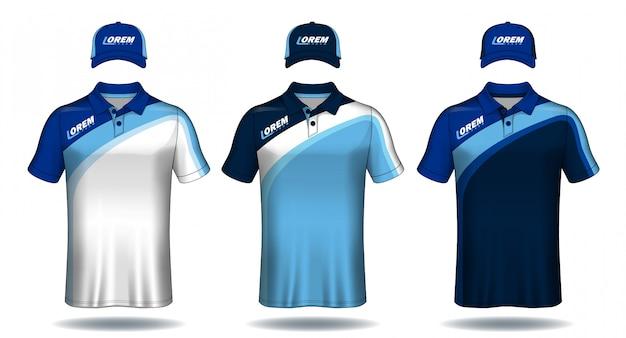 Conjunto de uniforme esporte Vetor Premium