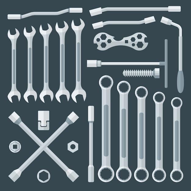 Conjunto de várias chaves Vetor Premium