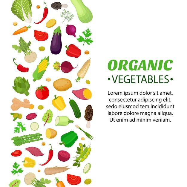 Conjunto de vegetais, logotipo, etiqueta, voucher Vetor Premium