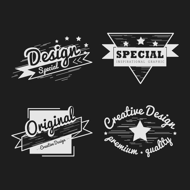 Conjunto de vetor de distintivo de qualidade premium Vetor grátis