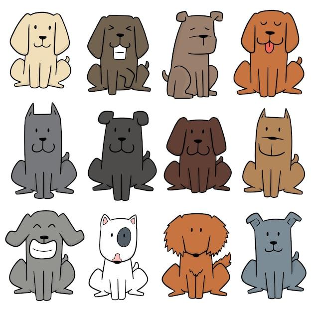 Conjunto de vetores de cão Vetor Premium