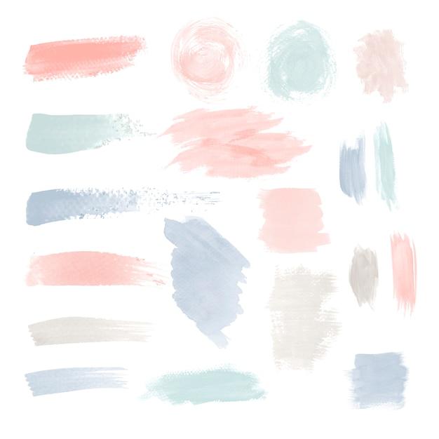 Conjunto de vetores de design de pincelada colorida Vetor grátis