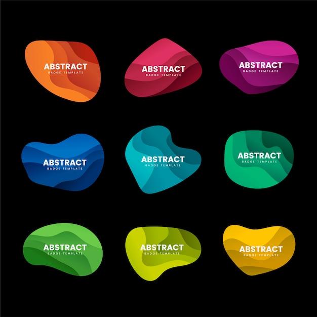 Conjunto de vetores de design distintivo abstrato Vetor grátis