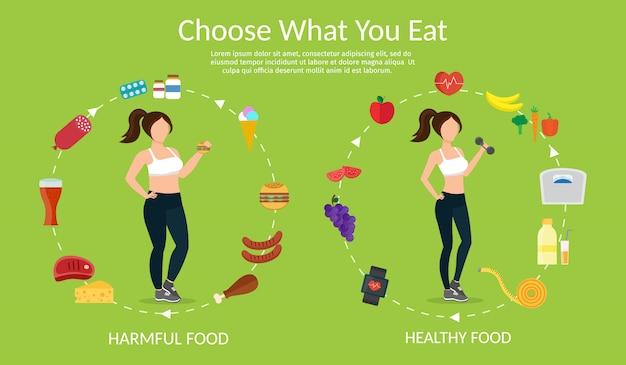 Conjunto de vetores de estilo de vida saudável e fitness esportes diferentes Vetor Premium