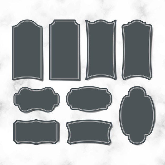 Conjunto de vetores de etiquetas autocolante vintage em branco Vetor grátis