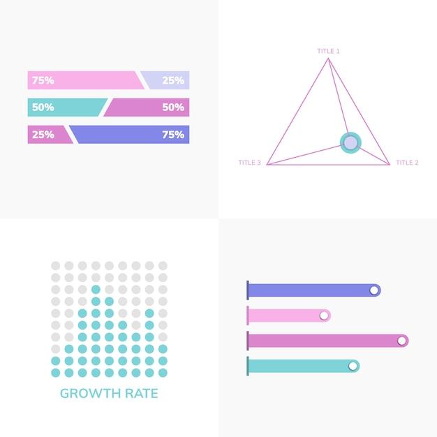 Conjunto de vetores de infografia de negócios Vetor grátis