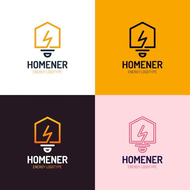 Conjunto de vetores de logotipo de casa inteligente Vetor Premium
