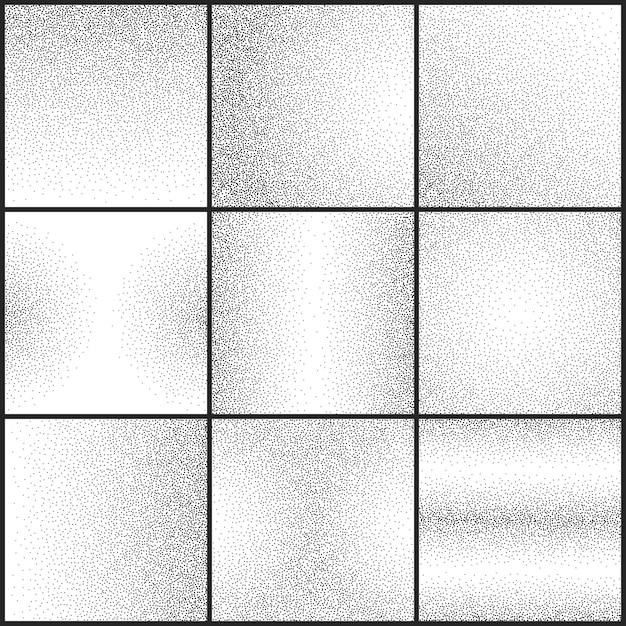Conjunto de vetores de texturas grunge sutil grunge pontilhada Vetor Premium