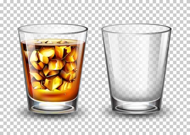 Conjunto de vidro transparente Vetor grátis