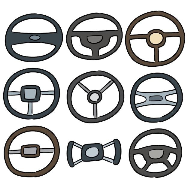 Conjunto de volantes Vetor Premium