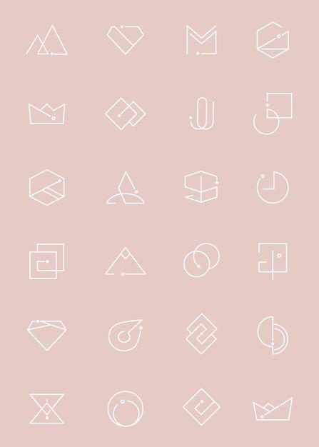 Conjunto mínimo de logotipo Vetor grátis