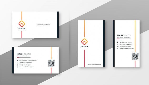 Conjunto mínimo de modelo de cartão branco Vetor grátis