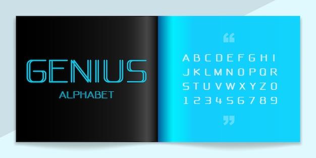 Conjunto moderno de fontes e alfabeto. Vetor Premium