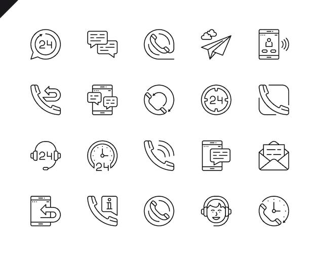 Conjunto simples de processamento relacionados com ícones de linha do vetor. Vetor Premium