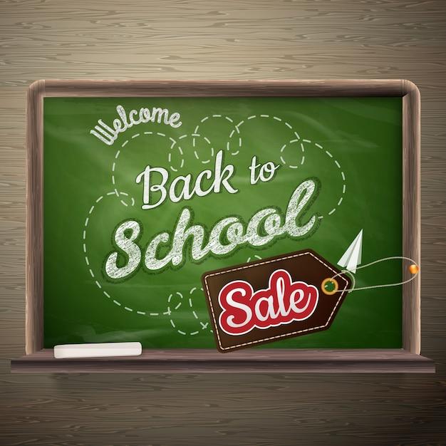 Conselho escolar fundo de venda. Vetor Premium