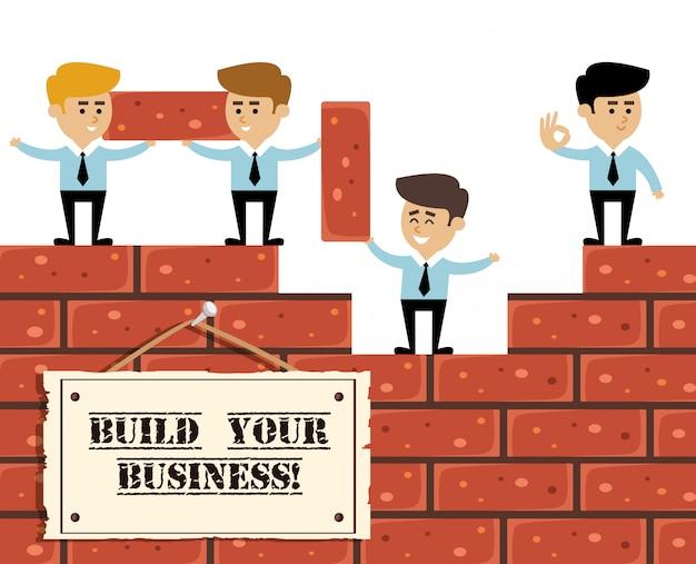 Construa o conceito de negócio Vetor grátis
