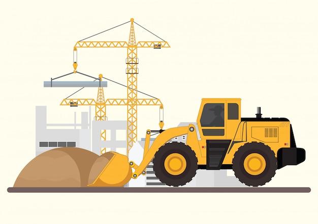 Construção de edifício. Vetor Premium