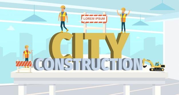 Construções modernas da construção da cidade do conceito Vetor grátis