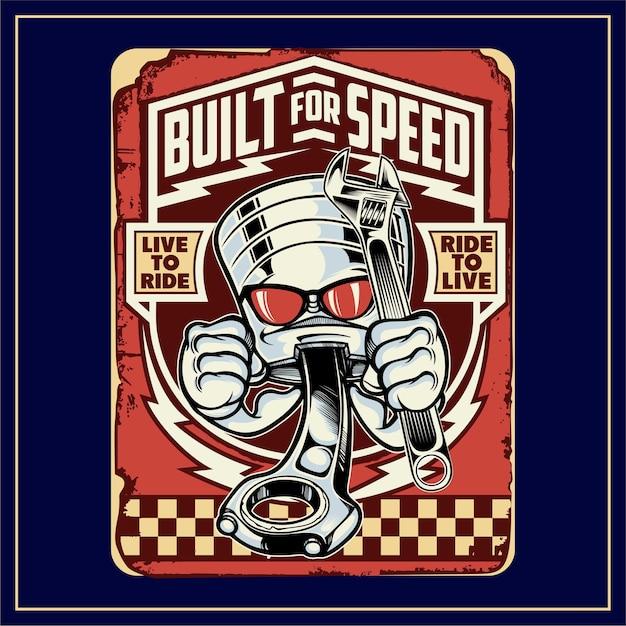 Construído para velocidade Vetor Premium