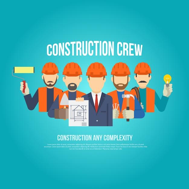 Construtores conceito plano Vetor grátis