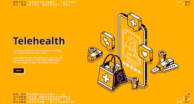 Consulta médica on-line Vetor grátis