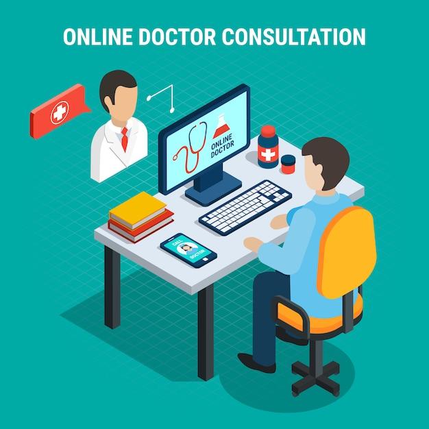 Consulta médica Vetor grátis