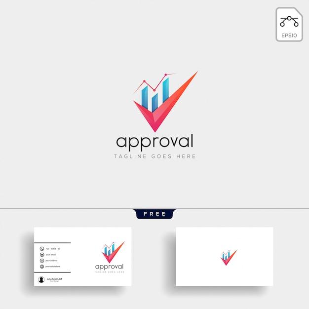 Contabilidade, modelo de logotipo criativo de finanças Vetor Premium