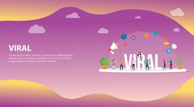 Conteúdo de informação de mídia social viral Vetor Premium