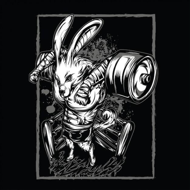 Continue lutando ilustração preto e branco Vetor Premium