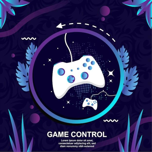Controle de design plano jogo de fundo vector Vetor Premium