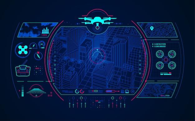 Controle de drone Vetor Premium