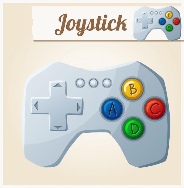 Controle de video game. ilustração em vetor dos desenhos animados Vetor Premium