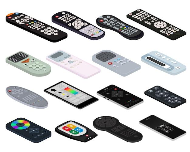 Controle remoto vetor tv controle remoto canal de televisão tecnologia mídia entretenimento equipamentos dispositivo digital painel de controle para assistir vídeo Vetor Premium