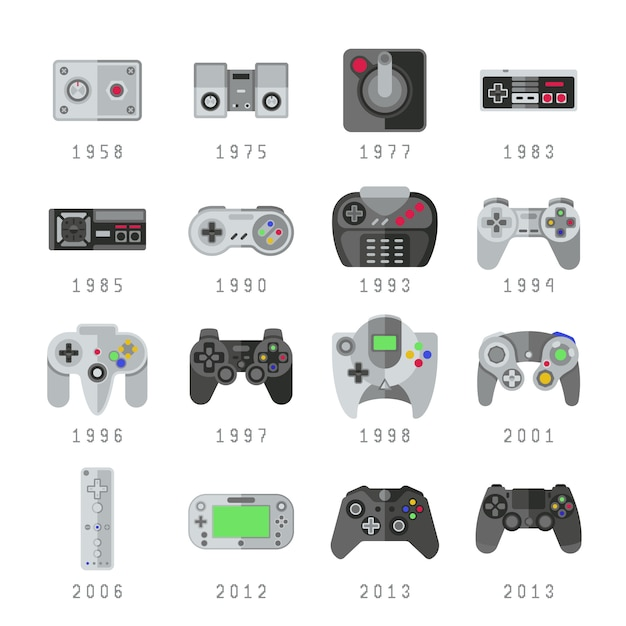 Controles de videogame Vetor Premium