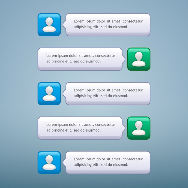 Conversa por telefone Vetor Premium
