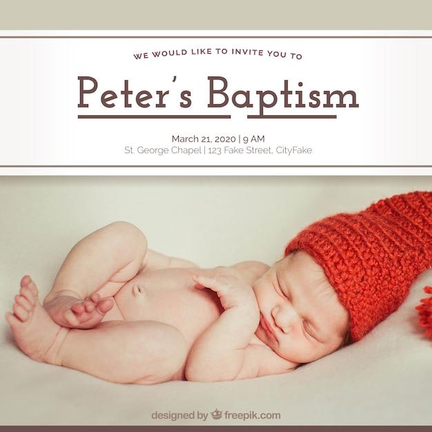 Convite da celebração do batismo Vetor grátis