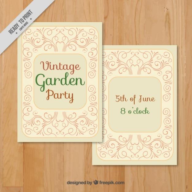 festa jardim vintage:Convite da festa de jardim Vintage