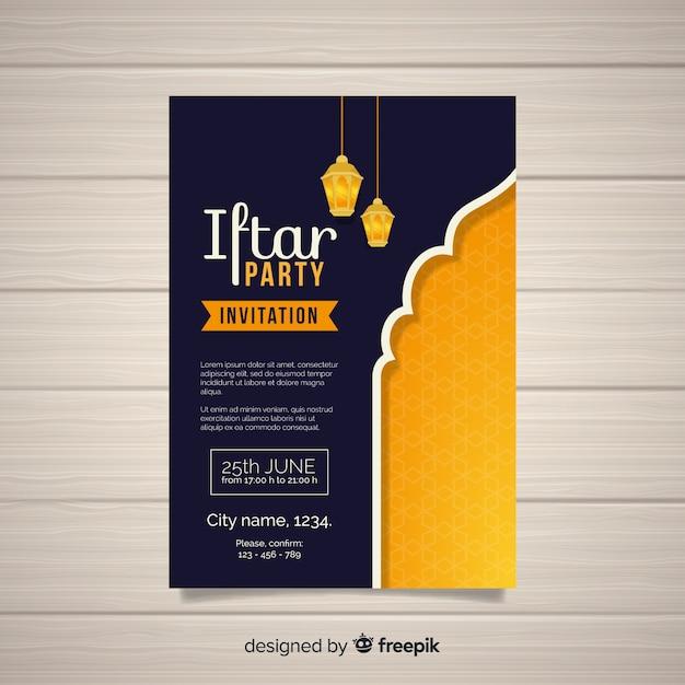 Convite da festa iftar Vetor grátis