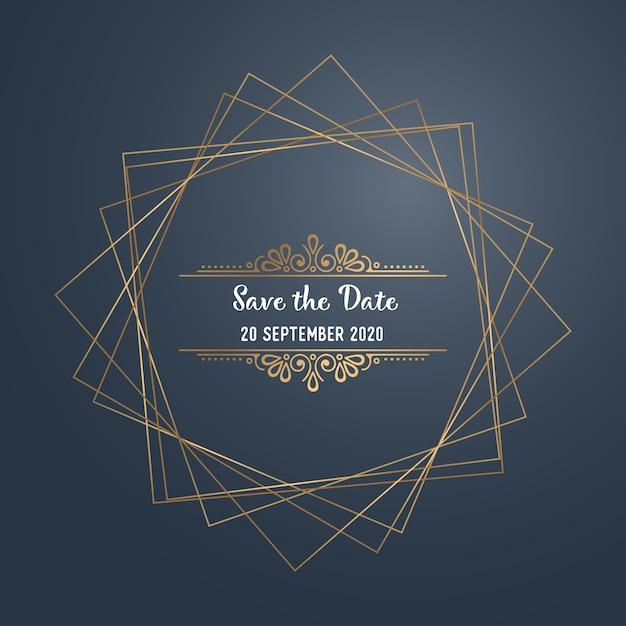 Convite de casamento de luxo de vetor Vetor grátis