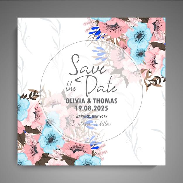 Convite de casamento Vetor Premium